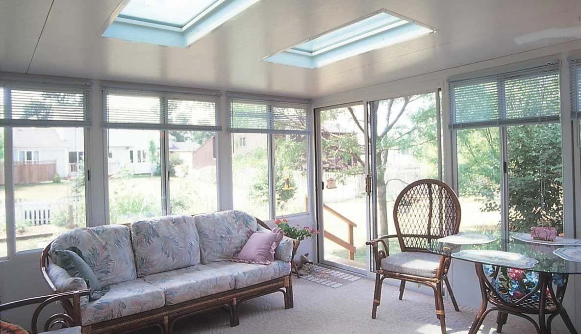 Straight Eave Solid Roof Sunroom