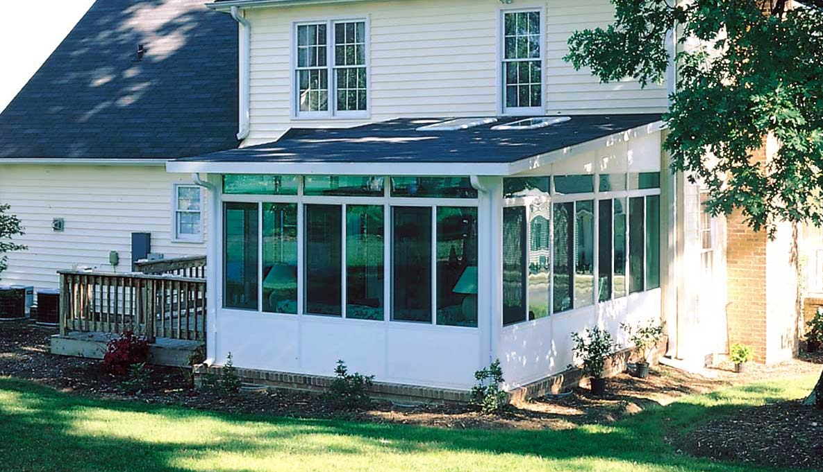 Aluminum Straight Eave Solid Roof Sunrooms Patio Enclosures