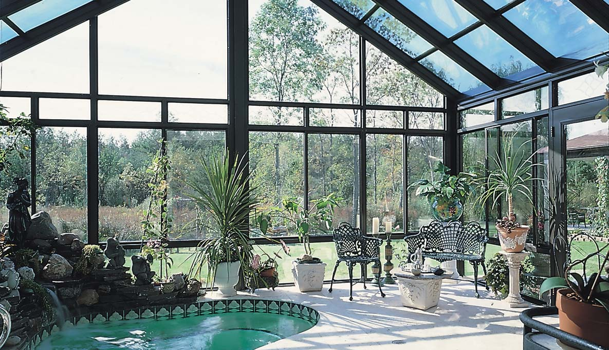 Cathedral Glass Roof Sunrooms