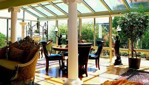 Straight Eave Glass Roof Sunroom