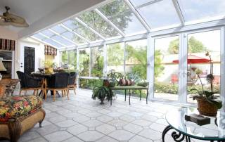 Straight Eave Glass Roof Sunrooms