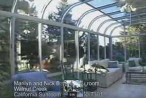 Family Room Curved Sunroom in Walnut Creek, CA