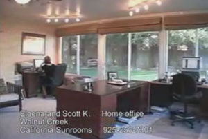 Home Office Sunroom in Walnut Creek, CA